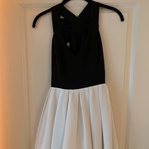 Nordstrom brand black and white dress with bow